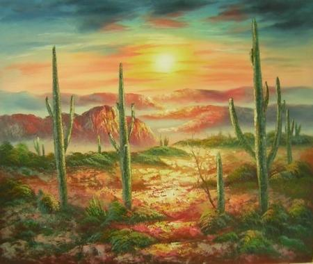 obraz Rozbouřená poušť