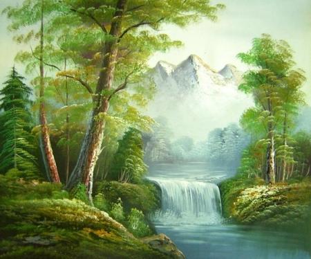 obraz Podhorský vodopád