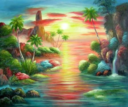 obraz Západ slunce v ráji
