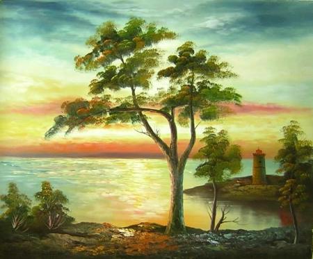 obraz Strom na břehu