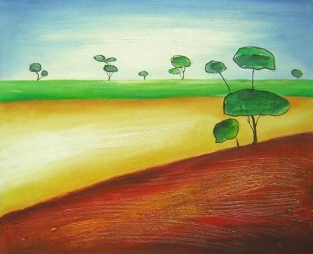 obraz Stromy v poli