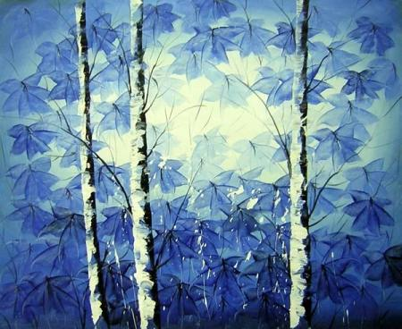obraz Břízky modré