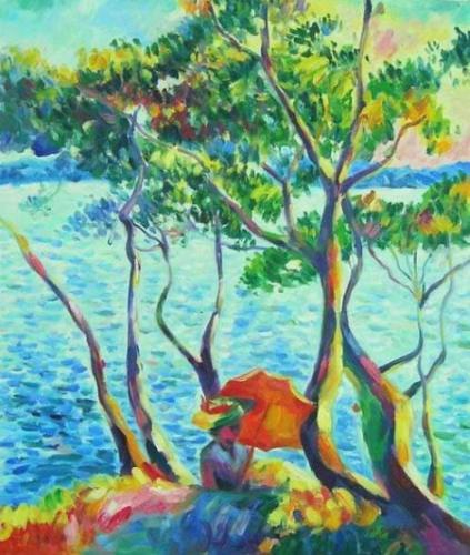 obraz U vody