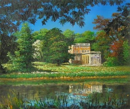 obraz Dům u jezera