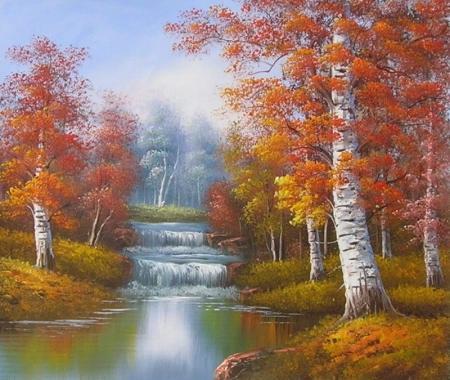 obraz Les v podzimu