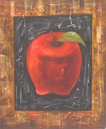 obraz Červené jablko