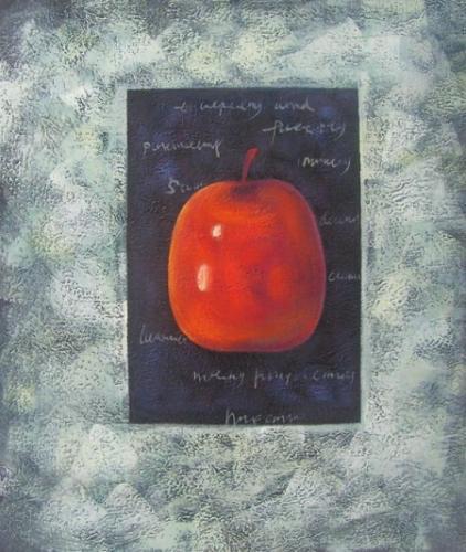 obraz Jablko v županu