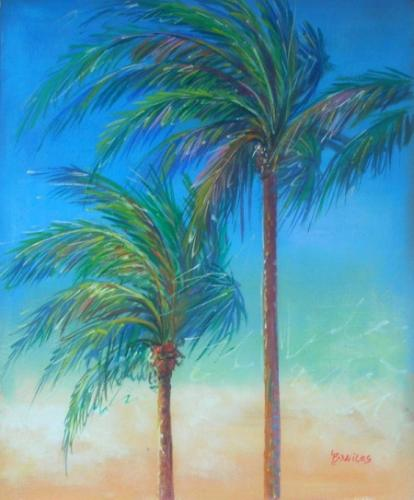 obraz Palmy ve větru