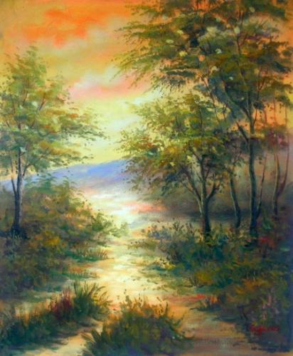 obraz Lesní klid