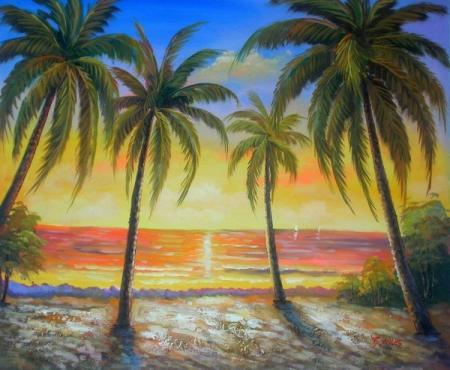 obraz Romantický západ slunce