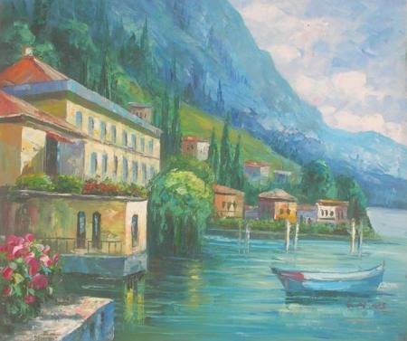 obraz Osamělá loďka