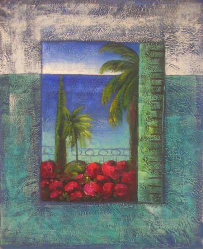 obraz Okno na pláž