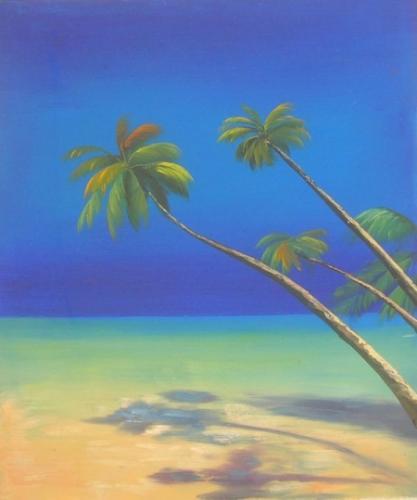 obraz Palmy na pláži
