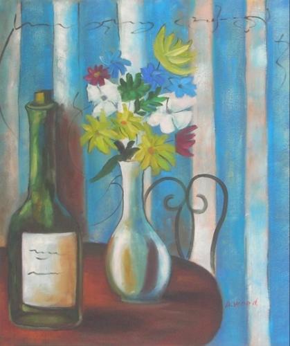 obraz Stůl s vázou