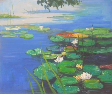 obraz Jezero s lekníny