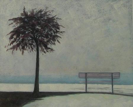 obraz Lavička se stromem