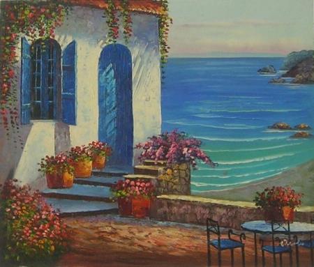 obraz Dům na pobřeží