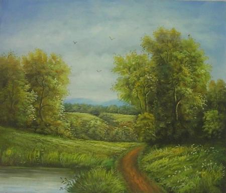 obraz Cesta do lesa