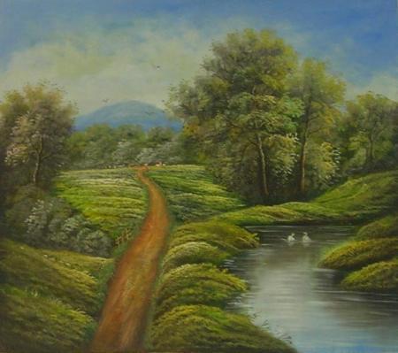 obraz Cesta podél řeky