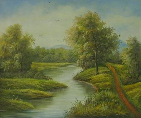 obraz Vlnící se řeka
