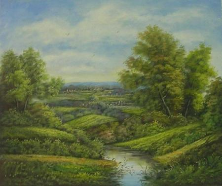 obraz Řeka v přírodě III.