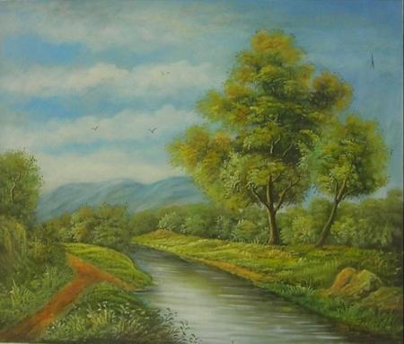 obraz Řeka v přírodě II.