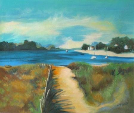 obraz Záliv za deště