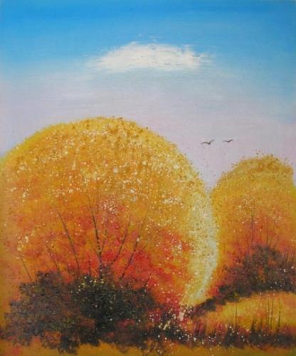 obraz Oranžové keře