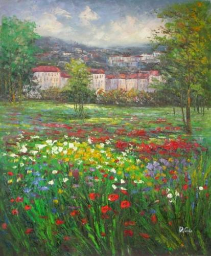 obraz Rozkvetlá zahrad