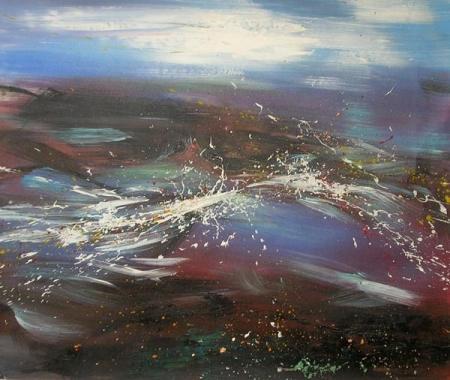 obrazy ručně malované - obraz Krajiny - Bouře, obrazy do bytu