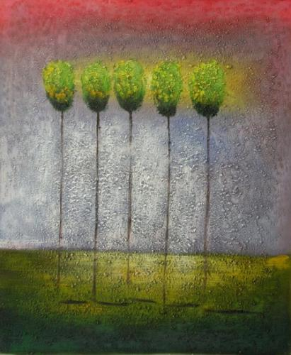 obraz Pět stromů
