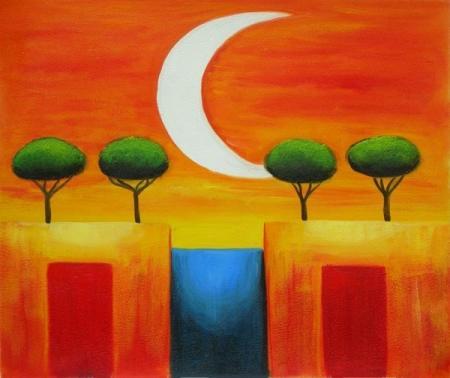 obraz Měsíční noc