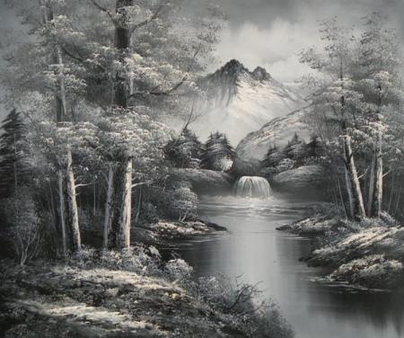 obraz Černobílý Neverland
