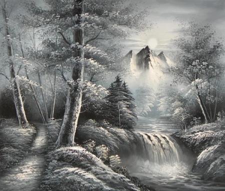 obraz Černobílá vichřice