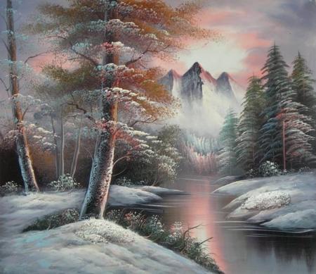 obraz Zasněžený Neverland