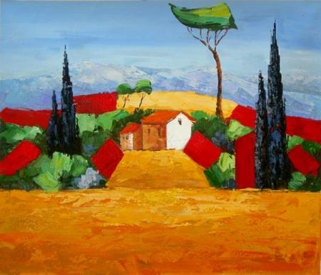 obraz Nádvoří vesnice