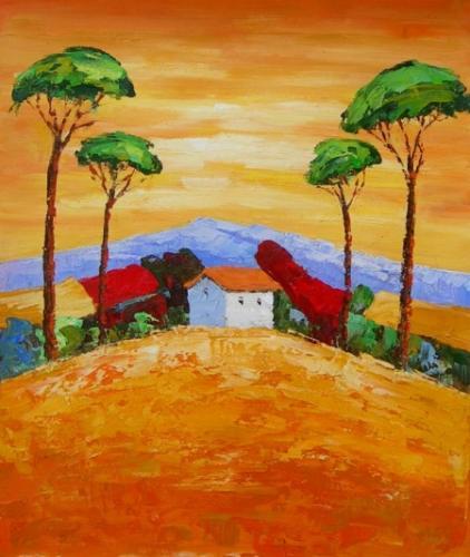 obraz Orámovaná vesnice