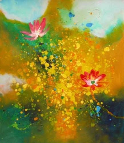 obraz Květy v barvách