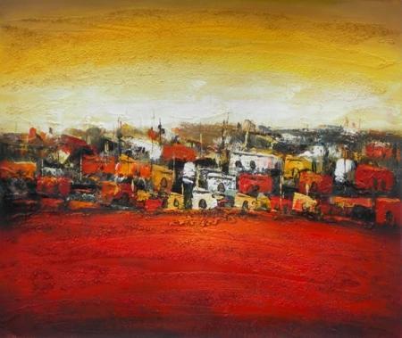 obraz Rudá vesnice