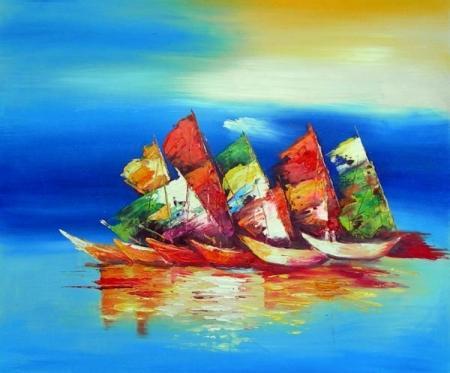 obraz Barevné lodě