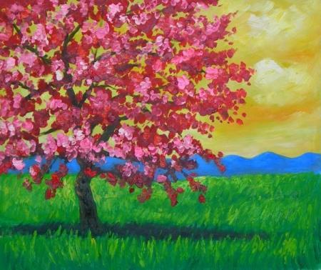 obraz Rozkvetlý strom