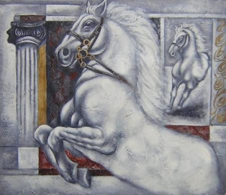 obrazy ručně malované - obraz Zvířata - Létající kůň, obrazy do bytu