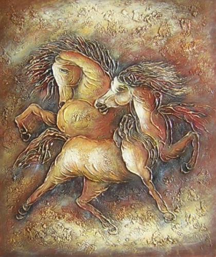 obraz Koně nostalgická vzpomínka