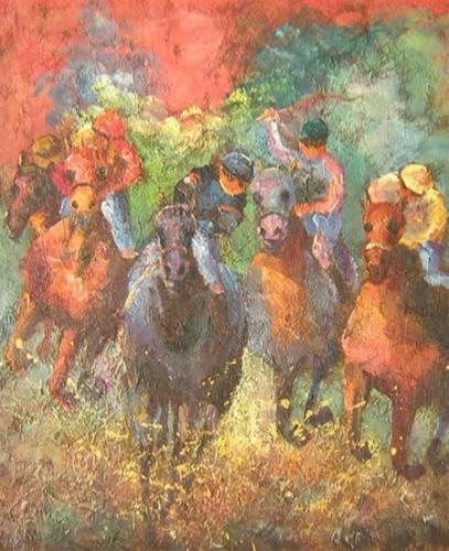 obraz Závody koní