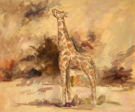 obraz Žirafa v přírodě