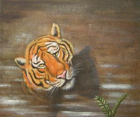 obraz Tonoucí tygr