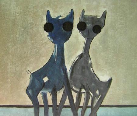obraz Dvě kočky