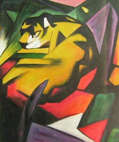 obraz Barevný tygr