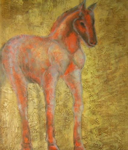 obraz Červený kůň