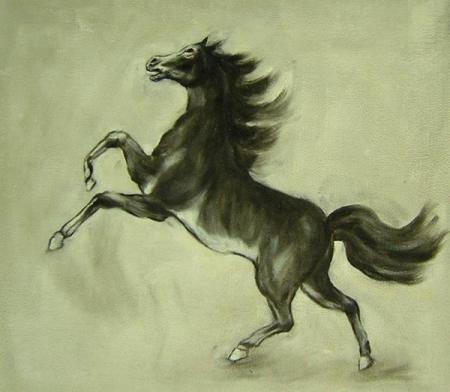 obraz Vzpínající se kůň